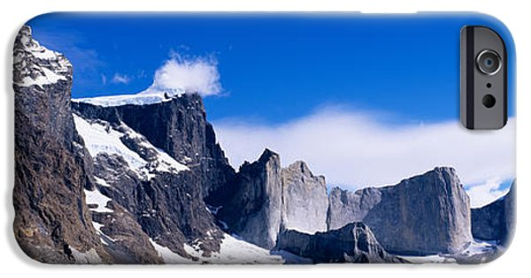 Mountain iPhone Cases - Rock Formations On A Mountain Range iPhone Case by Panoramic Images