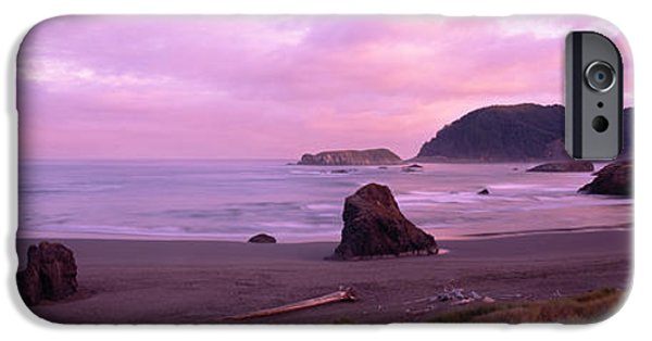 Creek iPhone Cases - Rock Formations On The Beach, Myers iPhone Case by Panoramic Images