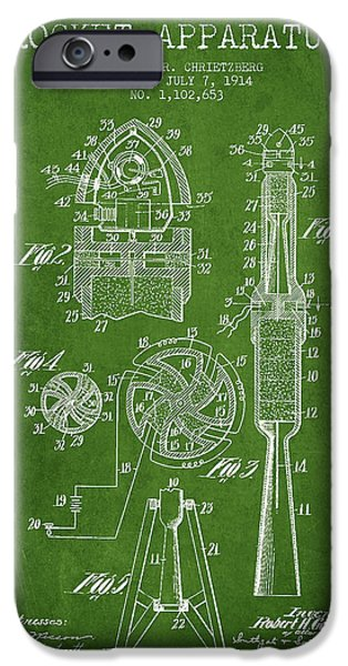 Rockets iPhone Cases - Rocket Apparatus Patent from 1914 iPhone Case by Aged Pixel
