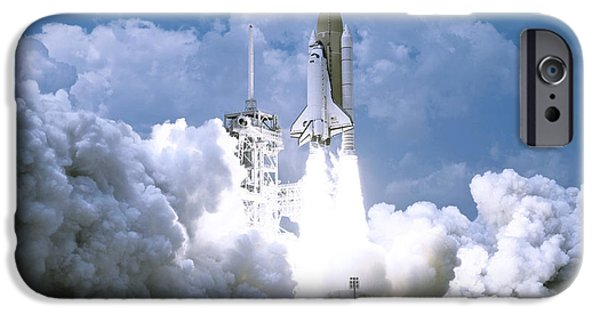 Astral iPhone Cases - Rocket launch iPhone Case by Celestial Images