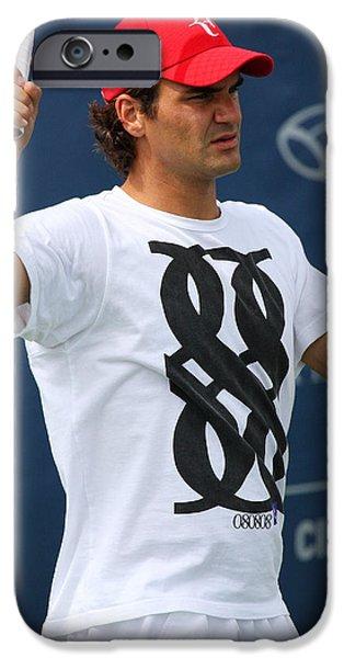 Federer iPhone Cases - Roger Federer iPhone Case by James Marvin Phelps