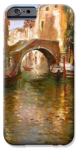 Venetian Balcony iPhone Cases - Romance in Venice  iPhone Case by Ylli Haruni