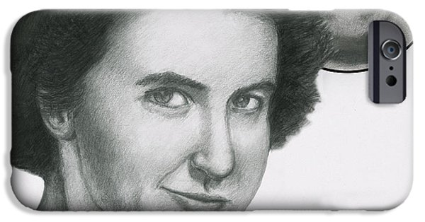Dna Art iPhone Cases - Rosalind Franklin iPhone Case by Spencer Sutton