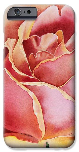 Pink Roses iPhone Cases - Rose  iPhone Case by Irina Sztukowski