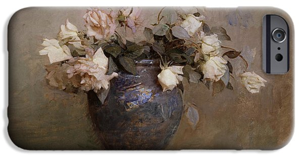 Abbott Handerson Thayer iPhone Cases - Roses iPhone Case by Celestial Images