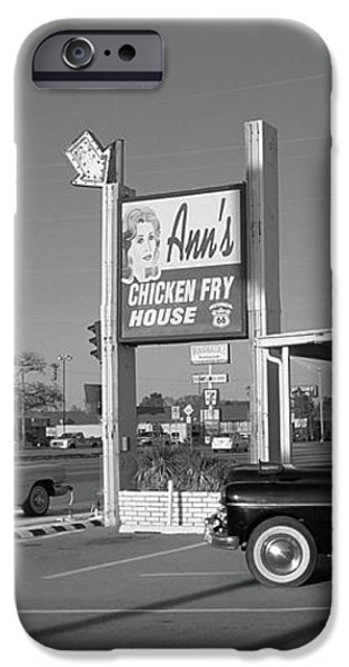 Route 66 - Anns Chicken Fry House iPhone Case by Frank Romeo