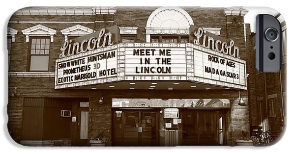 Business iPhone Cases - Route 66 - Lincoln Theater iPhone Case by Frank Romeo