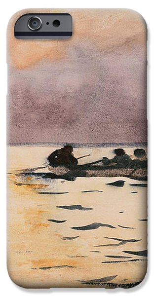 Rowing Home iPhone Case by Winslow Homer