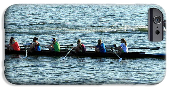 Cora Wandel iPhone Cases - Rowing The Potomac River iPhone Case by Cora Wandel