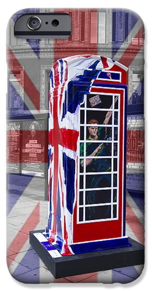 Duchess iPhone Cases - Royal telephone box iPhone Case by David French