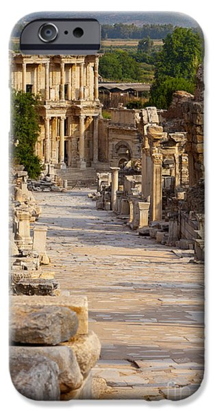 Ephesus iPhone Cases - Ruins of Ephesus iPhone Case by Brian Jannsen