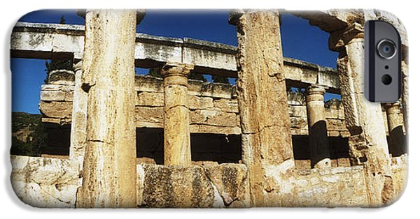 Ruin iPhone Cases - Ruins Of The Roman Town Of Hierapolis iPhone Case by Panoramic Images