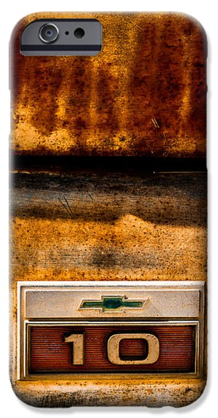 Indy Car iPhone Cases - Rusted C10 iPhone Case by Ron Pate