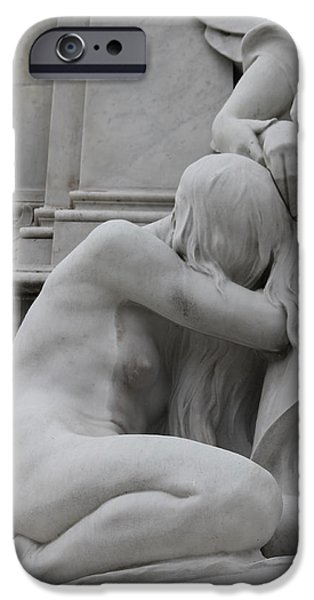 Statue Portrait iPhone Cases - Sadness iPhone Case by Stefan Kuhn