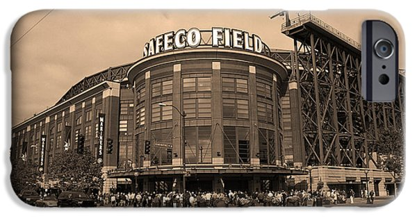 Safeco iPhone Cases - Safeco Field - Seattle Mariners iPhone Case by Frank Romeo