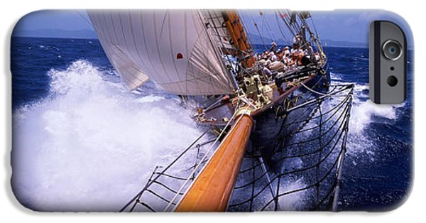 Sailboats iPhone Cases - Sailboat In The Sea, Antigua, Antigua iPhone Case by Panoramic Images