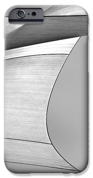 Industrial iPhone Cases - Sailcloth Abstract Number 4 iPhone Case by Bob Orsillo