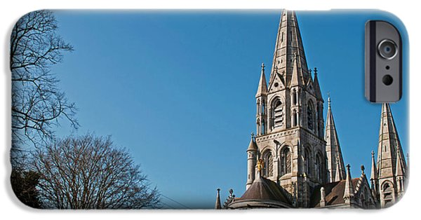 Facade iPhone Cases - Saint Fin Barres Cathedral iPhone Case by Luis Alvarenga