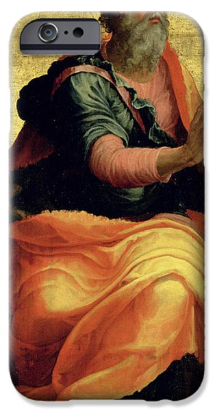 Disciples Paintings iPhone Cases - Saint Paul the Apostle iPhone Case by Marco Pino