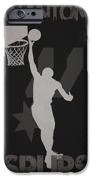 Nba Photographs iPhone Cases - San Antonio Spurs iPhone Case by Joe Hamilton