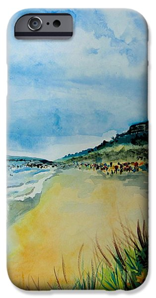 Clemente Paintings iPhone Cases - San Clemente iPhone Case by Karyn Linnell