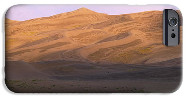 Sand Dunes iPhone Cases - Sand Dunes In A Desert, Great Sand iPhone Case by Panoramic Images