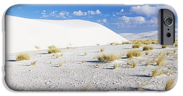 Sand Dunes iPhone Cases - Sand Dunes In A Desert, White Sands iPhone Case by Panoramic Images