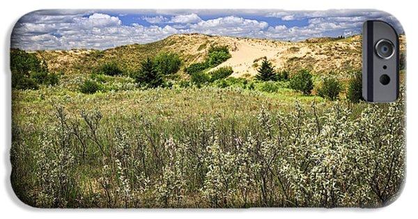 Sand Dunes iPhone Cases - Sand dunes in Manitoba iPhone Case by Elena Elisseeva