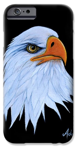 American Eagle Paintings iPhone Cases - Sarah iPhone Case by Adele Moscaritolo