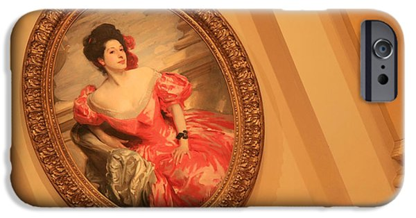 Cora Wandel iPhone Cases - Sargents Betty Wertheimer Is A Prominent Lady iPhone Case by Cora Wandel