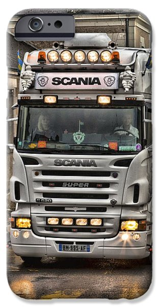 Michelin iPhone Cases - Scania V8 R620 iPhone Case by Mick Flynn
