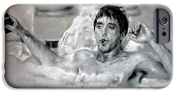 Al Pacino Drawings iPhone Cases - Scarface iPhone Case by Viola El
