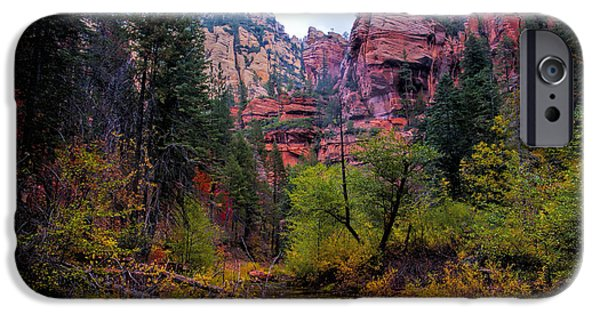 West Fork iPhone Cases - Scenic Cliffs iPhone Case by Brian Lambert