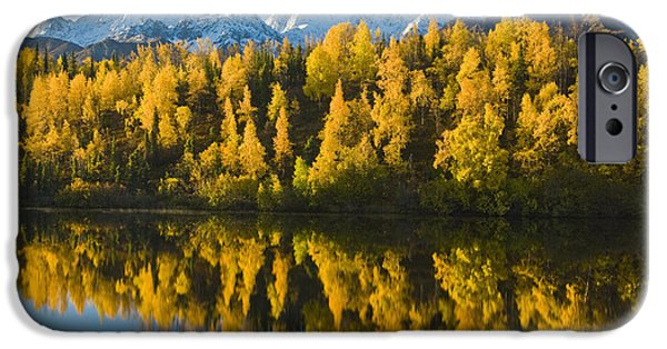 Matanuska iPhone Cases - Scenic View Of Chugach Mountains iPhone Case by Michael DeYoung