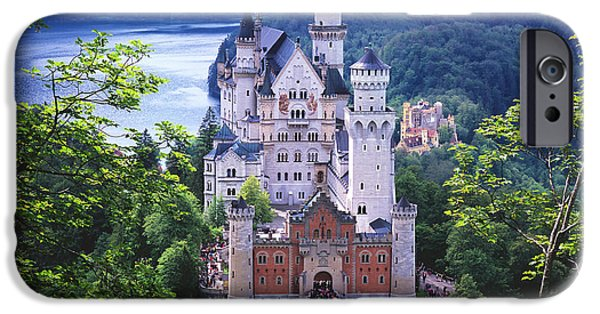 Magic Kingdom iPhone Cases - Schloss Neuschwanstein iPhone Case by Timm Chapman