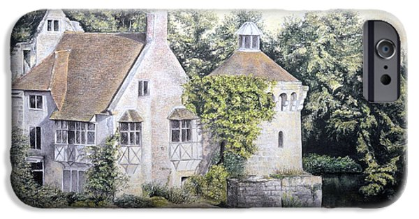 Culture Pastels iPhone Cases - Scotney Castle iPhone Case by Rosemary Colyer