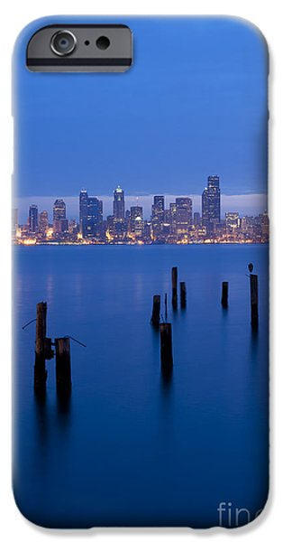 Local Attraction iPhone Cases - Seattle Skyline Sunrise iPhone Case by Jim Corwin