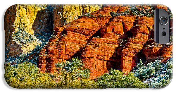 Oak Creek Digital Art iPhone Cases - Sedona Arizona - Wilderness Area iPhone Case by  Bob and Nadine Johnston