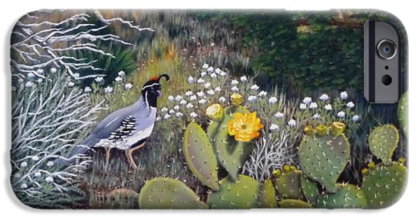 Sedona iPhone Cases - Sedona Quail iPhone Case by Beverly Theriault