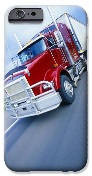 Semi-trailer Truck iPhone Case by Don Hammond