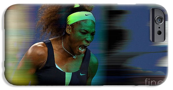 Tennis iPhone Cases - Serena Williams iPhone Case by Marvin Blaine