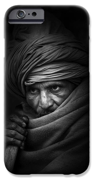 Candid Photographs iPhone Cases - Shadow Walker iPhone Case by Brad Grove