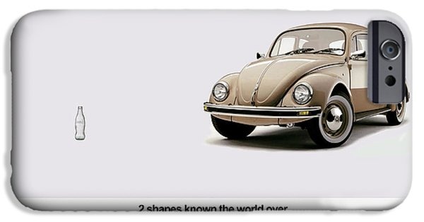 Volkswagen iPhone Cases - 2 Shapes Known The World Over iPhone Case by Mark Rogan