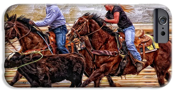 Roping Horse iPhone Cases - Shes The Real Deal iPhone Case by Robert Albrecht