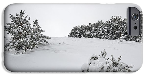 Winter Storm iPhone Cases - Sierra Nevada iPhone Case by Guido Montanes Castillo