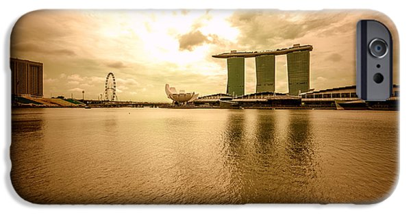 Business Photographs iPhone Cases - Singapore Cityscape iPhone Case by Jijo George