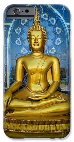 Buddhist iPhone Cases - Sitting Buddha iPhone Case by Adrian Evans