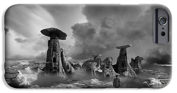 Ancient Ruins iPhone Cases - Sky City Casino iPhone Case by Keith Kapple