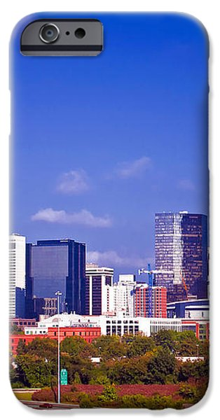 Skyline of uptown Charlotte North Carolina at night iPhone Case by Alexandr Grichenko