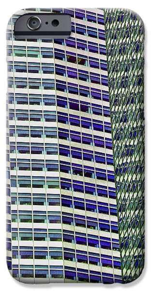 Finance iPhone Cases - Skyscraper Abstract iPhone Case by Allen Beatty